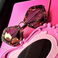 Miu Miu ♥ #miumiu #sunglasses #espelhado #rosa #pink #espelho #oticaswanny