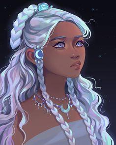 Black Girl Cartoon, Black Girl Art, Princesa Yue, Pretty Art, Cute Art, Fan Art Avatar, Character Inspiration, Character Art, Art Et Design