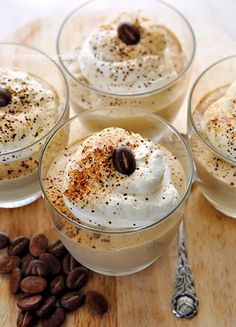 Few Delicious Coffee Recipes for You – Drinks Paradise Polish Desserts, Polish Recipes, Sweet Desserts, Dessert Recipes, Shot Glass Desserts, Best Organic Coffee, Cocoa Drink, Yummy Treats, Yummy Food