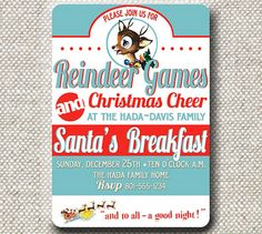 Reindeer Games Invite
