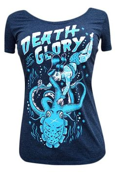 Women's Death Or Glory Scoop Neck T-Shirt #rebelcircus #rebel #goth #gothic #punk #punkrock #rockabilly #psychobilly #pinup #inked #alternative #alternativefashion #fashion #altstyle #altfashion #clothing #clothes #style