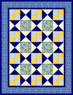 (7) Name: 'Quilting : Hourglass Quilt Pattern 3 Sizes
