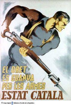 El Dret es guanya per les armes :: Cartells del Pavelló de la República (Universitat de Barcelona)