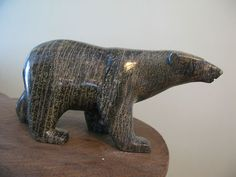 Stunning Walking Bear Inuit Eskimo Art by Tim Pee of Cape Dorset Polar Bear |