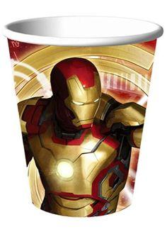 Iron Man 3 Gobelet de 9 oz 8PC