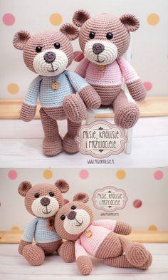 Crochet Teddy Bear – Gamze Birkan – Join the world of pin Doll Patterns Free, Crochet Animal Patterns, Crochet Patterns Amigurumi, Stuffed Animal Patterns, Amigurumi Doll, Crochet Dolls, Free Pattern, Crochet Teddy Bear Pattern, Crochet Bunny