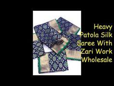 Heavy Patola Silk Saree With Zari Work Wholesale Price: 949/- || Latest ... Buying Wholesale, Saree Collection, Silk Sarees, Design, Fashion, Moda, Fashion Styles, Fashion Illustrations