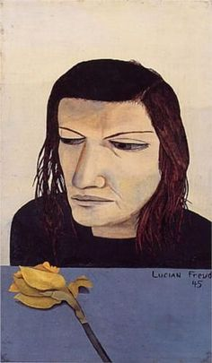 Lucian Freud: Woman with a Daffodil, 1945 - Pictify - your social art network