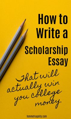 to Write A Successful Scholarship Essay These are great tips for writing a successful scholarship essay. I'm liking her track record, too.These are great tips for writing a successful scholarship essay. I'm liking her track record, too. Grants For College, Financial Aid For College, College Planning, College Hacks, Scholarships For College, Education College, College Students, Essay For Scholarship, Scholarships For Graduate Students
