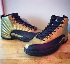 Air Jordan 12 Customs 'Champagne Room' (by:... - Love For Kicks