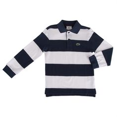 Lacoste Boys 4-8 Rugby Striped Pique Polo #VonMaur