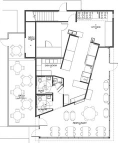 Asian Kitchen Design Restaurant Floor Plan Plans With Islands U Shaped