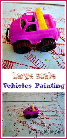 Painting with a variety of vehicles on a bigger scale.
