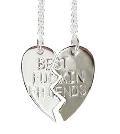 Best F****ing Friends Necklace (Silver Toned)