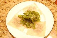 """Truffled Wild Mushroom Ravioli """"Salad"""" Recipe on Wild Mushrooms, Stuffed Mushrooms, Wonton Skins, Mushroom Ravioli, Sauces, Fresh Pasta, Great Appetizers, Food 52"""