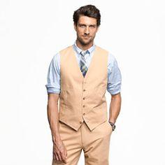 Ludlow suit vest in Italian chino