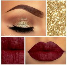 #Gold and #Burgundy #MakeUp.