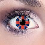 Union Jack Flag Contact Lenses - Buy now at www.youknowit.com