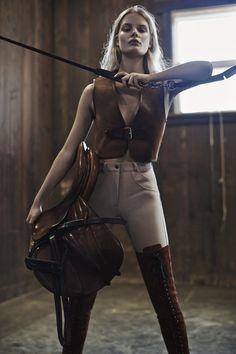 Alena Blohm by Liz Collins for Elle US