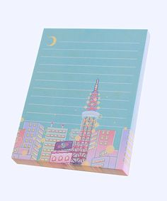 Dreamy Tokyo notepad, notepad, paper, office, travel