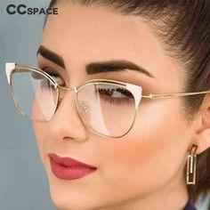 Ladies Cat Eye Glasses-Women T Rivet Brand Designer Optical Eye Glass Red Cat Eye Glasses, Fashion Eye Glasses, Lens And Frames, Womens Glasses Frames, Cute Glasses Frames, Glasses Trends, Eyeglasses For Women, Computer Glasses, Women's Eyewear