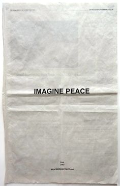 Imagine Peace ad by Yoko Ono Words Quotes, Wise Words, Life Quotes, Sayings, Grey Quotes, A Well Traveled Woman, Joko, Peace And Love, Texts