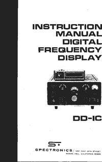 Spectronics -- DD-1C -- User Manual Manual, Coding, Digital, Free, Textbook, Programming