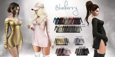 https://flic.kr/p/RKGX8s | Blueberry New Release @ 6pm SLT | Yay! New Blueberry release at 6pm SLT today!   These dresses come in 2 versions: Tight and loose fit to wear over your bottoms. The dresses come in 24 regular colors. The fat pack includes: 10 Gold & Shine textures 12 Ombre textures 7 Iridescent unicorn textures 15 Sassy versions with sassy quotes!  Sleeves can be individually color changed, the set includes optional panties you can wear underneath the tight version.  Sim locat...