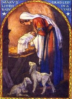 Mary's Little Baby Cradled In A Stall by Margaret Tarrant