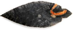 Grade 10 Turkeytail Arrowhead. COA Papers: Indiana Indian Artifacts, Native American Artifacts, Ancient Artifacts, Native American Indians, Native Americans, Stone Age Tools, Flint Knapping, Prehistory, Opals