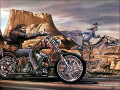 David Mann ''Ghost Rider'' x Matted Motorcycle Biker Art Easy Rider, Harley Davidson Kunst, Harley Davidson Wallpaper, Motos Harley, Harley Davidson Motorcycles, Harley Knucklehead, Motorcycle Art, Bike Art, Motorcycle Quotes