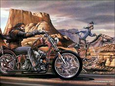 Dave Mann art   Greatest Biker Artist Ever