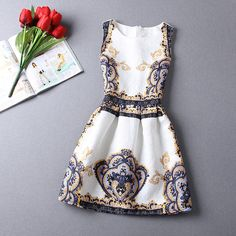 New 2015 women casual print dress european style vest vintage dresses women clothing Vestidos dress-inDresses from Women's Clothing & Accessories on Aliexpress.com | Alibaba Group