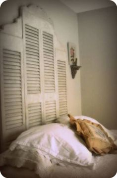 I have too many memories of hours spent dusting shutters just like these to want that anywhere near me when I'm sleeping!