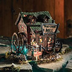 "Department 56: Products - ""Dead Creek Mill"" Snow Village Halloween"