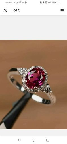 Sterling Silver Ruby stone Cubic Zirconia Ring size M #Unbranded Ladies Silver Rings, Half Eternity Ring, Ruby Stone, Cubic Zirconia Rings, Dress Rings, Beautiful Rings, Heart Ring, Sterling Silver, Unique Jewelry