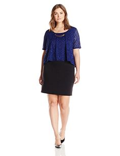 New NY Collection Women's Plus Size Short Sleeve Lace Popover Dress With Trim At Neck online. Find the  great MONROW Dresses from top store. Sku trnn78431pavn41503