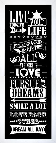 LIVE YOUR -taulu. #sisustusidea #sisustaminen #sisustusinspiraatio #askohuonekalut #sisustusidea #sisustusideat