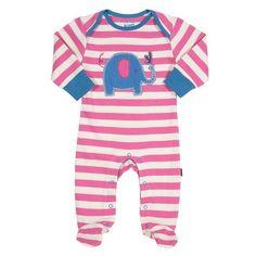 Kite Stripy Elephant Sleepsuit - Baby Gift Works