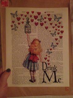 Amazing anniversary present, Alice in wonderland print