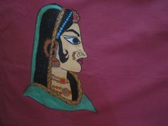 maharaja pillow cover handpainted