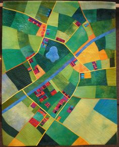 This. Is. AWESOME! ... Aerial Map Quilt - Alicia Merrett, 'Canal Country'