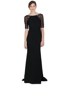 Badgley Mischka EG1431 Raglan Beaded Sleeve Evening Gown, now available at the official website. Free shipping, exchanges, and returns.