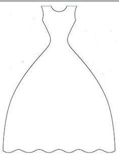 Макет открытки платье