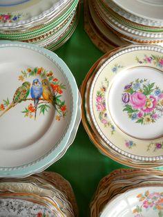 vintage plates <3