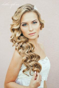 A very perfect wedding hairstyle!