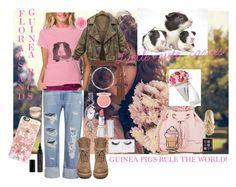 """Guinea pigs/floral cavies"" by sarah-m-smith ❤ liked on Polyvore featuring moda, Frame Denim, Topshop, Rick Owens, Finesse, Sekonda, HoneyBee Gardens, Paul & Joe, Gorgeous Cosmetics e Casetify"