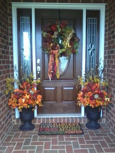 Fall Decoration for my front porch!