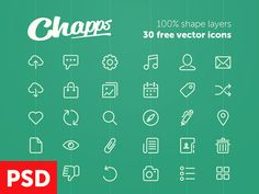 30 Vector Shapes Line Icons Set - http://www.dawnbrushes.com/30-vector-shapes-line-icons-set-2/