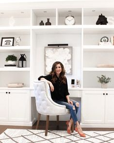 My New Home Office + 2019 Goals - Simply Sutter traditional modern farmhouse white built in office Always wanted to be able to knit, nonetheless unsure where to start? Home Office Layouts, Home Office Space, Home Office Design, Home Office Furniture, Home Office Decor, House Design, Home Decor, Office Ideas, Office Designs